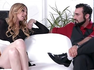 She-male Mandy Mitchell Gets A Throatful Of Sperm After A Steamy Buttfucking