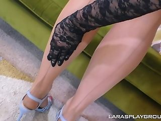 Matures Lezzies Loula Lou And Lara Finger Each Other In Silky Gloves