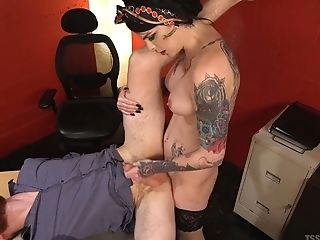 Lustful Hot Like Fire Shemale Chelsea Marie Fucks Bearded Dude Hard