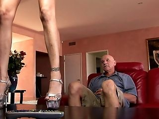 Old Stud With A Supah Fat Dick Fucking A Blue Eyed Swimsuit Dame