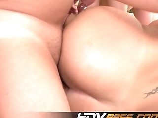 Two Black-haired Gal Sara Jay Nd Lisa Sparx Fuck A Man