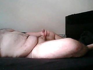 Nude Chubby Boy Wankung On The Sofa
