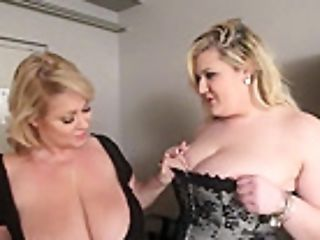 Bbw Cougar Faux-cocks Sexy Obese Big-chested Stunner In Motel Room