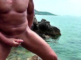 Amateur couple at beach mutual masturbation and fist tmb