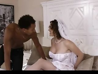Big-titted Bride Cuckolds Spouse With Black Rod On Their Wedding Day