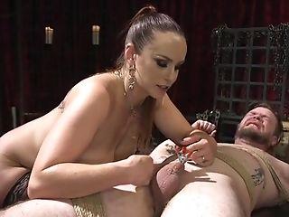 Huge-titted Mistress Ass Fucking Fucks Masculine Sub Rear End