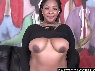 Fat Black Whore Slum Ball-gagged Hard
