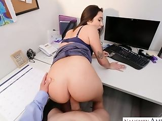 Sultry Assistant Karlee Grey Gets Her Beaver And Bumpers Fucked In The Office