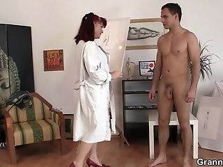 Fucking Matures Brown-haired Paintress From Behind