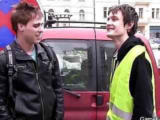 Queer Dude Tempts Employee From Street