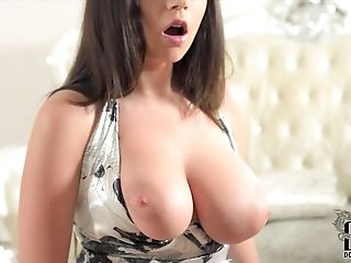 Ava Shows Off Her 32 Dual G Natural Tits & Has Solo Finger Romp
