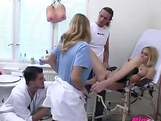 Gorgeous Lucie Gets Fucked By Hard Physician's Chisel On The Hospital's Couch