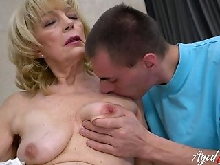 Youngster Paramour Likes Oral Pleasure And Superb Joy With Well Older Granny