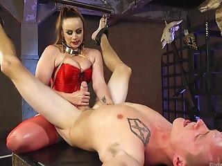 Crimson Underwear On Her Stunning Figure Makes Bella Rossi More Desired