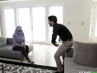 Hijab Nymphomaniac Aaliyah Hadid Gets Her Cornhole Fucked In Spoon Position