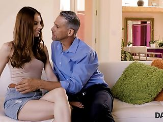 Daddy4k. Crimson-haired Debby Gets Pink Twat Had Hump By Dad