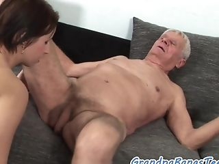 Hugetits Beauty Sucking Seniors Trouser Snake