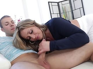 Eva Notty Taunts A Man With Her Tits Before A Shag