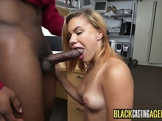 Massive Black Getting Sucked By Arousing Woman