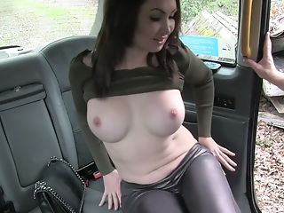 Sexy brunette milf fucked in the car