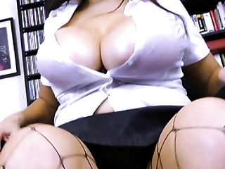 Matures Assistant Oils Up Her Big Tits In The Office