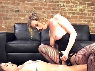 Lesbo Fettered And Butt Caned Lesbo Domination