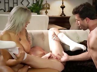 Babysitter Zoe Parker Fucks With Parents James Deen And Nina Elle.