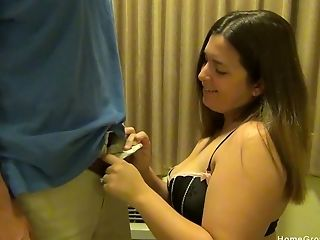 Chubby Doll Becomes Horny So She Asks Her Friend To Fuck Her Hard After A Fellatio