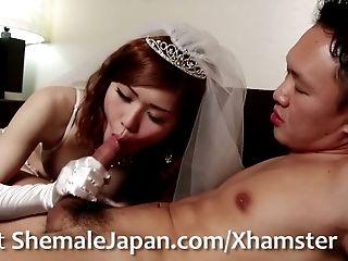 Here Cums The Bride - Fantasy Newhalf, Nene Aizawa