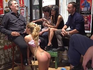 Horny Gabriela Flores Gets Her Cunt Pounded In Front Of Her Friends