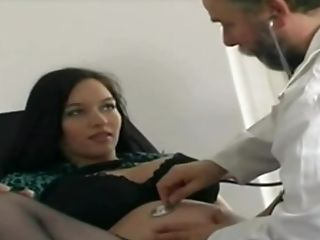 German Preggo Beauty At The Physician