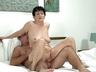 Brief Haired Lusty Old Whore Anastasia Gets Matures Labia Fucked Well