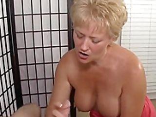 Lusty Matures Blonde Providing A Tugjob
