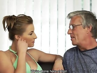 Old Patriarch And Hot Teenage With Big Tits