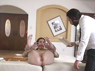 Amazingly Rapacious Casey Calvert Is Tied Up And Cruelly Ass Fucking Fucked
