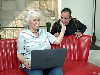 Matures Granny With Saggy Tits Norma Sprayed With A Humungous Cum Shot
