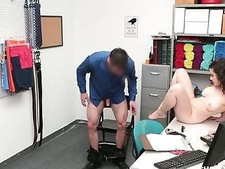 Curly Black-haired With Sweet Booty Lyra Lockhart Gets Disciplined For Shoplifting