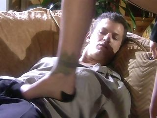 Amazing Footjob And A Oral Pleasure From Blonde Tyler Faith In Stockings