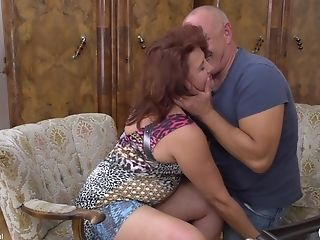Buxom Red-haired Matures Cougar Isadora M. Takes A Hard Stiffy Rear End Style