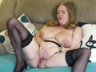 Huge-chested Natural Matures Mom With Greedy Old Cunt