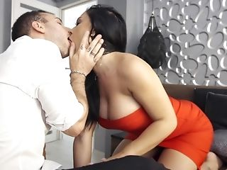 Buxom Dark-haired Can Surely Crack A Dick