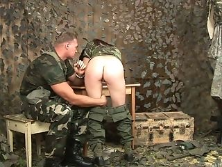 Asian Chick In Military Uniform Aisha San Gives A Good Dt To One Soldier