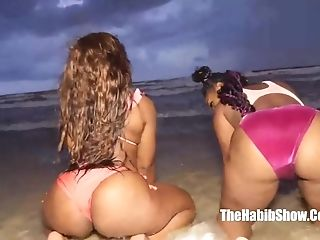 Two Sexy Chocolate Jada Dee Ambitious Booty Thickie De-robe N Taunt