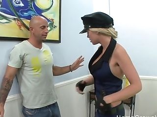 Fucking A Big Titty Blonde Officer