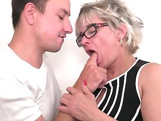 Brief Haired Matures Blonde Cougar Luciane Gets A Truly Good Fuck