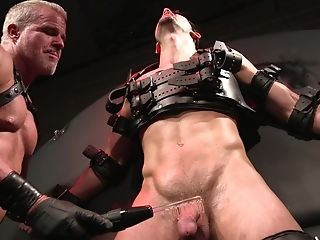 Horny Faggot Man Tied Up A Friend And Fucked His Stiffy-squeezing Butt