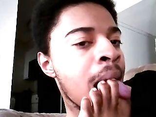 Ethnic gay licking feet tube