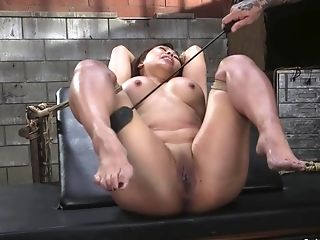 Buxom Asian Fuck Toy Is Whipped And Shagged