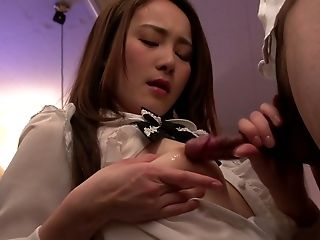 Adorable Asian Waitress Misuzu Tachibana Gives Good Deep Throat In The Bar