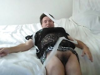 Lifting My Mini Microskirt Pulling Underpants Off Displaying You My Masculine Hairy Labia